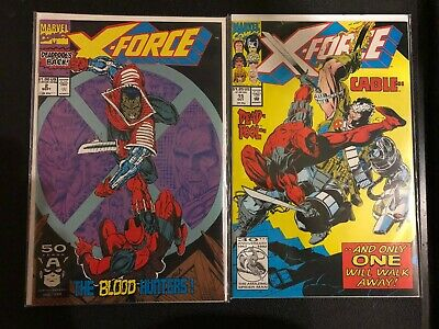 x-force 2 and x-force 15. second app of deadpool. features cable. VF/NM marvel