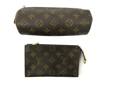Authentic 2 Item Set LOUIS VUITTON Monogram Pouch PVC Leather 83818