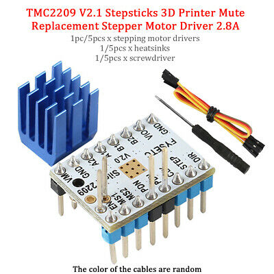 TMC2209 V2.1 With Heat Sink 3D Printer Mute Stable Parts Stepper Motor Driver