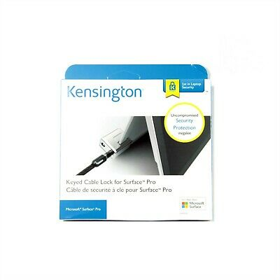 Kensington Keyed Cable Lock For Microsoft Surface Go Pro 2017 4 3 Blk New 62055