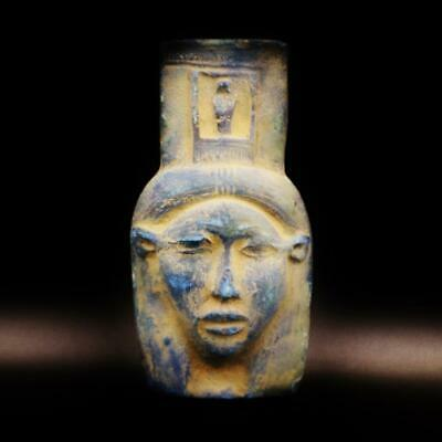 Rare Ancient Egyptian Bust Amulet Queen Tiye Mask....LARGE...ONE OF A KIND