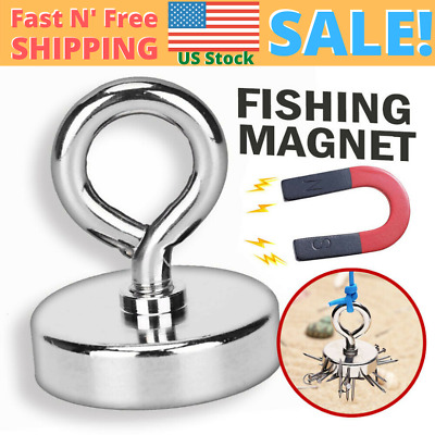 42mm Fishing Magnet Lifting Hook Neodymium Magnetic Retrieving Treasure Collects