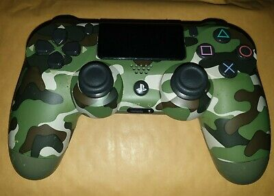 Official PS4 PlayStation DualShock 4 V2 Wireless Controller Green Camo PreOwned