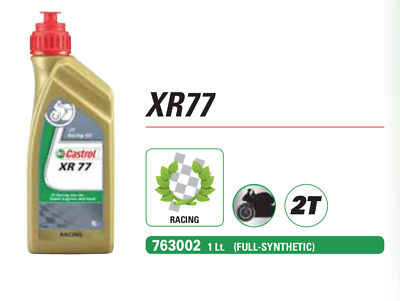 Castrol XR77 Synthetic 1L Olio Racing per Motori Moto e Scooter 2T