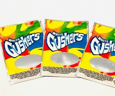 50ct WHITE GUSHERS Mylar bags empty ziplock resealable candy snacks cookies bags