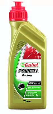 Castrol POWER 1 Full Synthetic RACING 5W-40 1L Olio per Motori Moto 4T