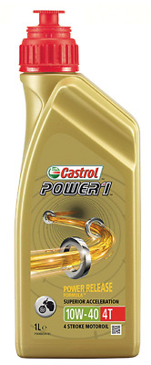 Castrol POWER 1 Full SemiSynthetic 10W-40 1L Olio per Motori Moto 4T