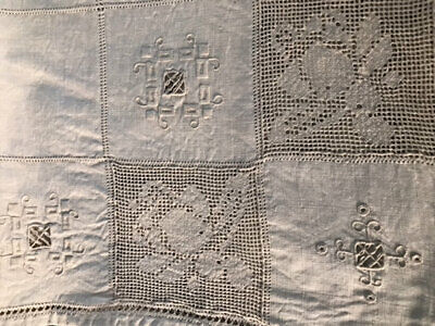 Vintage Ecru Linen/Lace Cloth.great Quality.