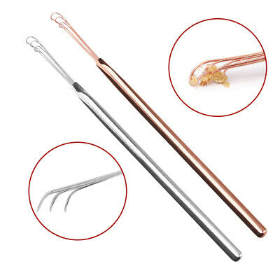 New 3 Fork Ears Wax Removal Stainless Steel Ear Wax Ear Cleaning Stick Care Tool