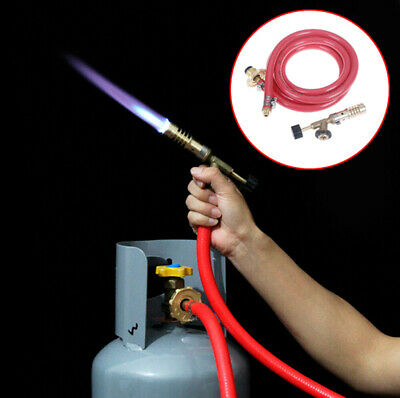 Gas Self Ignition Plumbing Turbo Torch With Hose Solder Propane Welding NRKTC