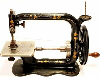 antigua rara maquina de coser HEBERLING 1875 RUNNING STITCH rare sewing machine