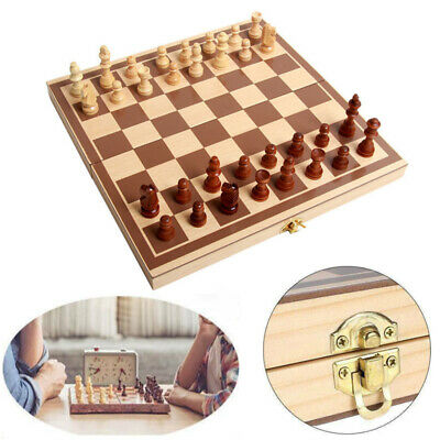 Chess Set Folding Wooden High Quality Standard Chess Set Chessboard 30x30CM