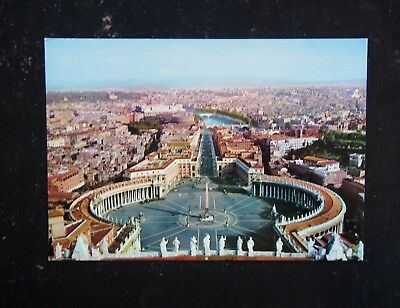 Vintage Postcard - St. Peter's Square & Panorama From The Dome