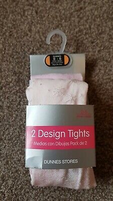 Bnwt Baby Girl Pink Tights 0-6 Months Dunnes Stores