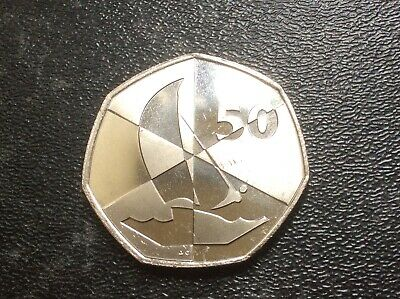 Olympic 50p. Island Games Gibraltar 2019. Sailing. Brilliant Uncirculated. Rare.