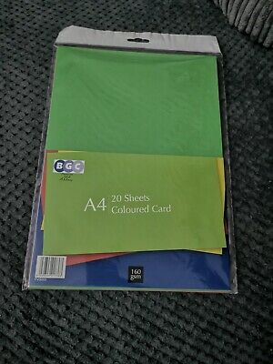 Mixed Colour - Craft Card - 160gsm A4 Assorted Coloured Card - 20 Sheets Pack