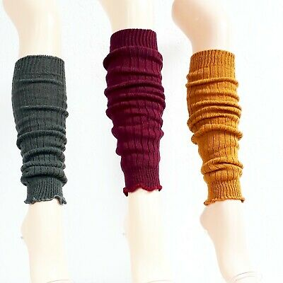 Knitted Gauntlets with Wool, Legwarmers, 3 Colors, One Size