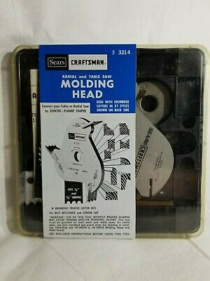 Craftsman 9-3214 Moulding Cutter Head for Radial and Table Saw (C4)