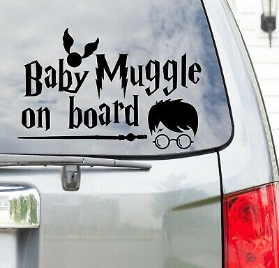 Harry Potter Baby Muggle Witch Wizard on Board Vinyl Car Decal Sticker