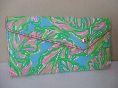 Great Lilly Pulitzer Collapsible Sunglass Case * In The Bungalows Pattern NWOT