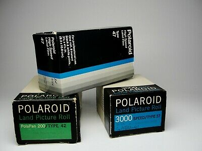 Polaroid Land Picture  FILM 3 count,  kit/ Rolls Type 37, 42, 47. boxed