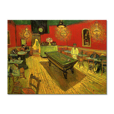 Canvas Print Van Gogh Painting Repro Wall Art Picture Home Decoration Night Cafe