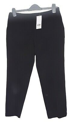 Dorothy Perkins Black Ankle Grazer Trousers, Petite Size 10. NWT