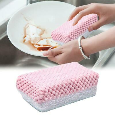Durable Dish Washing Brush Two Sided Foam Dish Towel Pot Scourer Cleaning Pad