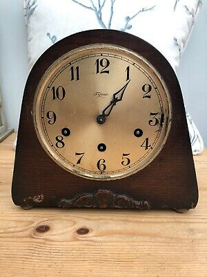 Vintage Tymo Mantel Clock with Chimes & Pendulum - Spares/Parts for Restoration