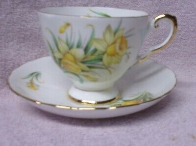 Birthday Flowers TUSCAN  MARCH'S DAFFODIL CUP, SAUCER