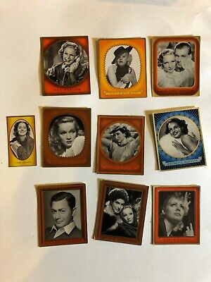 Gustav Fröhlich 1936 1937 Bunte Filmbilder Film Stars Cigarette Cards Lot of 10