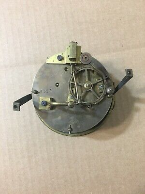 Antique French Round Plate Mantle Clock Movement Japy Marti Era