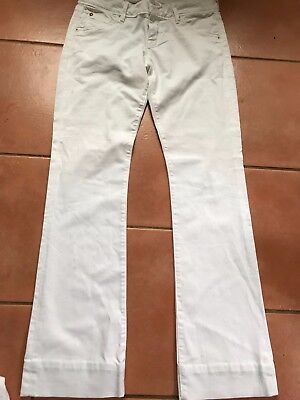 "Girls Jeans Pair white,Hudson USA skinny fit Zipped fly design, waist 30"" Mint"