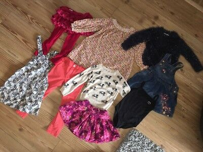 GIRLS CLOTHES BUNDLE 3-4 Years VGC DRESSES TROUSERS LEGGINS SWEATER