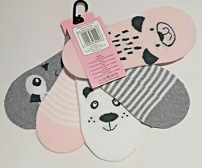 Girls Secret Socks - Animals - Size 27-30 (Approx UK 9-12) - 5-Pack - Brand New