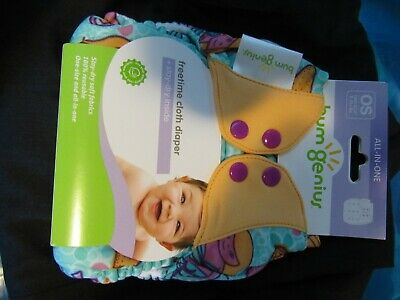 NIP New Bumgenius  All in One AIO Freetime Diaper Marie Mermaid Print