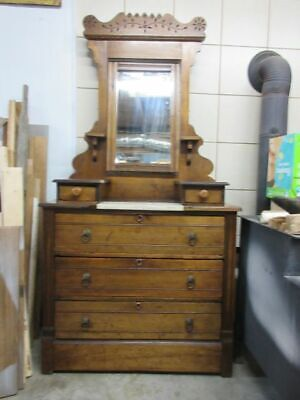 Magnificent 19th Century Eastlake Style Dresser with marble shelf and mirror