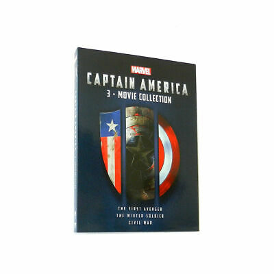 Captain America: 3-Movie Collection Trilogy 1 2 3 Dvd Box Set *Brand New*