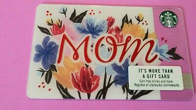 """Starbucks gift card 2017 """" M O M """" MOTHER'S DAY~ COLORFUL & BEAUTIFUL~NO VALUE"""