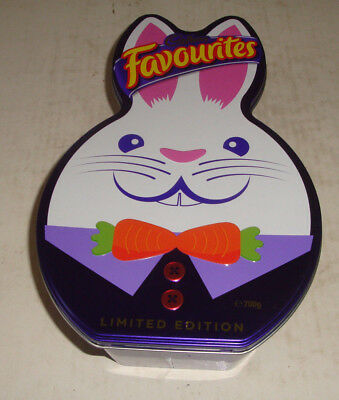 Cadbury's Favourites Limited Edition Bunny Shaped Tin - Xlnt Condition