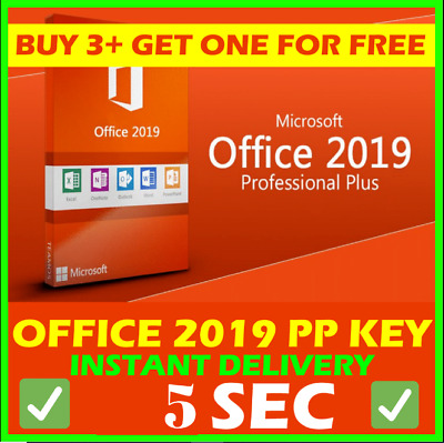 Microsoft Office 2019 Pro Plus 🔥 Lifetime ⚡ License Key 🔑 For Windows 🏆