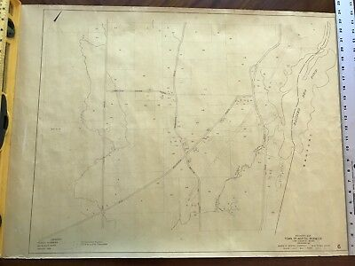Vintage 1972 Town of North Berwick Maine Map