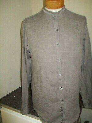 GIORGIO ARMANI Black Label Linen Button Down Shirt Size 40 15.5