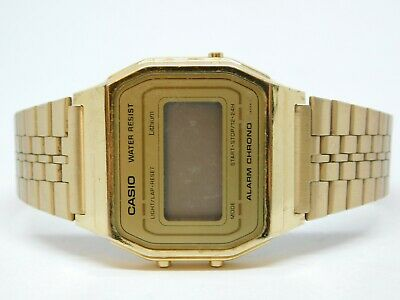 Casio A-153W 587 Gold Tone Quartz Digital Unisex Watch