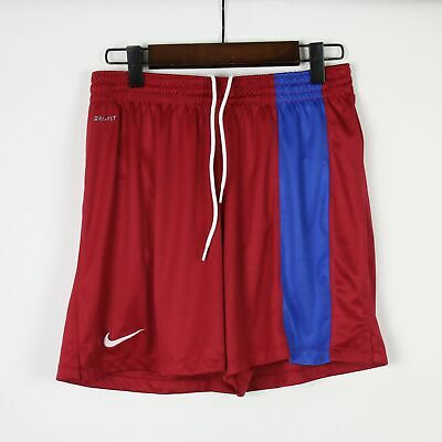 NIKE Dri-Fit Girls Red 'Striker' Soccer Shorts LARGE 14/16
