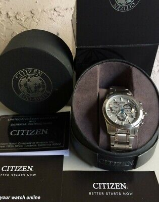 CITIZEN Eco Drive Mens Watch Chrono,Perpetual,Radio Controlled at4000-53b AT4000