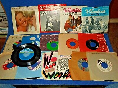 Great Vintage Lot of (15) 45RPM Records - for Jukebox or Your Collection  LOT 9