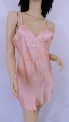 Vintage 30s 1930s Champagne Pink Satin Chamise Teddy Button Crotch Tap Pants