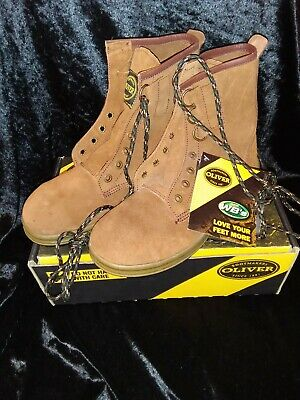 Oliver Brown Suede Steel Capped Work Boots  Brand New In Box 3