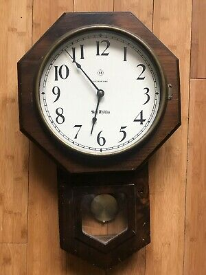 "Seth Thomas Drop Octagon Wall Clock 23""x14"""